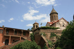 Church. Complex of church constructions in Tbilisi Royalty Free Stock Photos