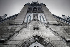 Church. Picture of the facade of a catholic church in Canada Royalty Free Stock Images