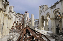 Church. A destructed church in Haiti Stock Photography