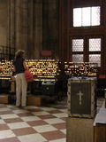 Church. Interior view with candles royalty free stock images