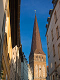 Church. View to the Petrikirche in Rostock (Germany Royalty Free Stock Photos