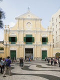 Church. Tourists visit an old church , Macao Asia Royalty Free Stock Photo