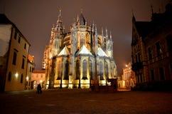 Church. St. Vitus Cathedral at Prague , Czech Republic stock image