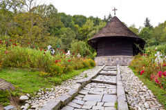 Church. Ancient monastic settlement ,Monastery From an Wood(Biserica Dintr-un Lemn in romanian Royalty Free Stock Images