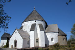 The church. The historical church in Bornholm island. (Denmark Royalty Free Stock Photography