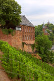 Church. View of the church  in the city  Saarburg, Rheinland-Pfalz, Germany, evening Royalty Free Stock Photography