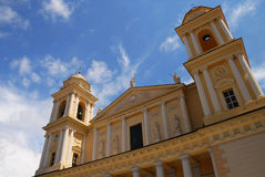 Church. At Imperia. In Italy stock photo