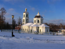 Church. In the Tsaritsyno in Moscow in winter Stock Photos