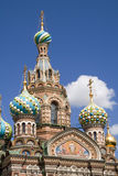 Church. Orthodox Church of Resurrection in St. Petersburg, Russia royalty free stock photography