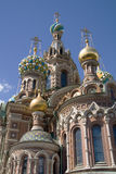 Church. Orthodox Church of Resurrection in St.Petersburg, Russia royalty free stock images