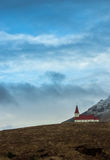 Church. A beautiful and isolated church in Vik, iceland Royalty Free Stock Photos