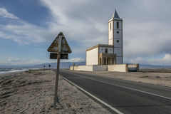 Church. Is an old church in a fishing village stock photos