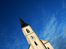 Church. Village church and blue sky Royalty Free Stock Photography