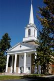 Church. American church with white steeple Stock Photography