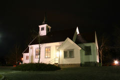 Church. By night Stock Image