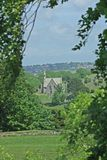 Church. Taken from the walls of Carisbrooke Castle Isle of Wight England royalty free stock photos
