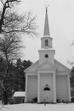 Church. Winter Church Scene royalty free stock image