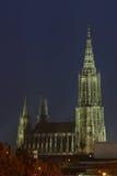 Church. Minstre of ulm at night Royalty Free Stock Photos