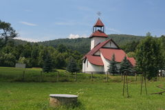 Church. Located in small Slovakia village called Topola Royalty Free Stock Photography