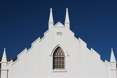 Church. In Franschhoek, South Africa royalty free stock photography