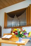 Church. A swiss protestant Church - inside Stock Photography
