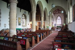 In the Church. Saint Peter's church in Sunderland, Tyne & Wear, Northeast England Royalty Free Stock Photo