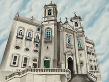 Church. Bahia´s church royalty free illustration