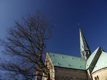 Church. In denmark a sunny summer day royalty free stock photos