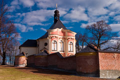 Church. Historic church in Jaromerice about Jevicko Stock Photo