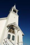 Church. Facade of old white wooden church royalty free stock photos