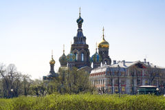 Church. On the blood build at place where Russian emperor Alexander II was murdered royalty free stock photo