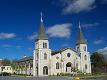 Church. A Church, blue cloudy sky in background Royalty Free Stock Image