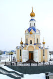 Church. Russian orthodox church in Belgorod, Russia, winter Stock Photography