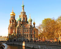 The Church. Of the Savior on Spilled Blood in St. Petersburg, Russia Royalty Free Stock Images