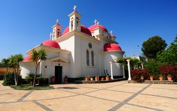 Church. The Greek Orthodox Church Of The Twelve Apostles In Capernaum Royalty Free Stock Photography