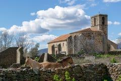 Church in the abandoned village of granadilla royalty free stock photos