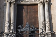 Church in Catania. Church of the Abbey of Saint Agatha in Catania on the island of Sicily, Italy stock image