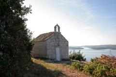 Church above the sea coast Stock Images
