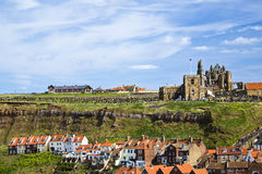 Church above whitby town Royalty Free Stock Photo