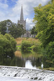 Church across the River Suir Royalty Free Stock Images