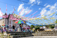 Church adorned for St John's Day, Guatemala Royalty Free Stock Images