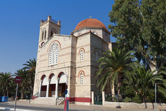 Church at Aegina island in Greece Royalty Free Stock Image