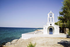 Church in Aegina island Greece. A greek church in Aegina island near the sea Royalty Free Stock Image