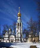 Church against the blue sky in spring. Vologda Stock Images