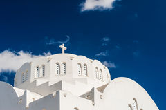 The Church against the dark blue sky. Royalty Free Stock Photography