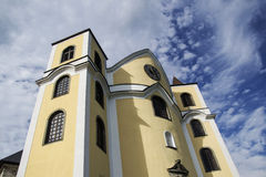 Church against the sky. The church towering to the sky Stock Photography