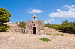 Church of Agia Ekaterini Inside the Fortezza of Rethymno. Crete, Greece. Royalty Free Stock Image