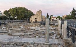 Church of Agia Kyriaki Chrysopolitissa in Paphos Stock Photography