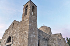 Church of Agia Kyriaki Chrysopolitissa at sunset in Paphos Royalty Free Stock Image