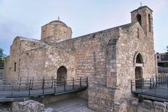 Church of Agia Kyriaki Chrysopolitissa at sunset in Paphos Royalty Free Stock Photo